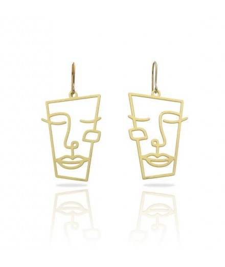 Boucles d'oreilles hommage à Picasso
