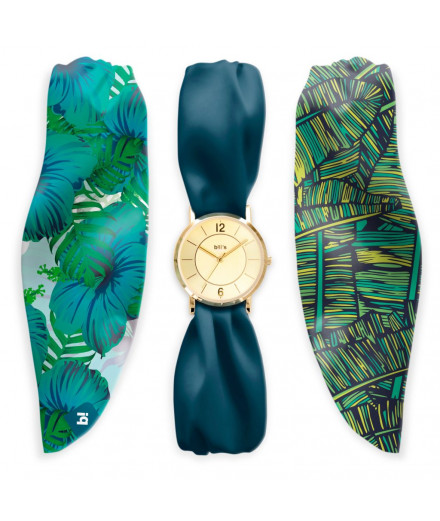 Montre bracelet en satin palme