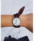 Montre bracelet en satin tropic