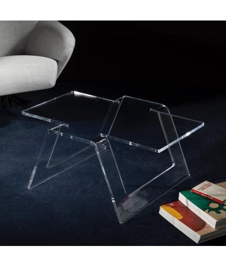 Table basse origami rettangolare