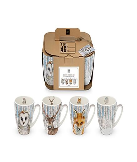 Coffret 4 mugs wild