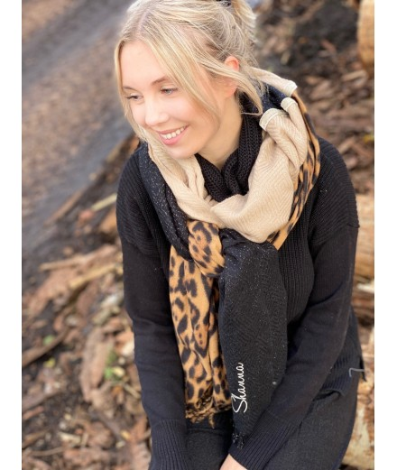 Echarpe chaude Shanna léopard