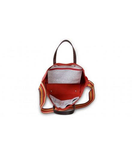 sac à main ou porté épaule - chocolat