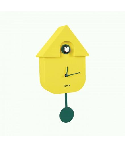 Horloge coucou jaune