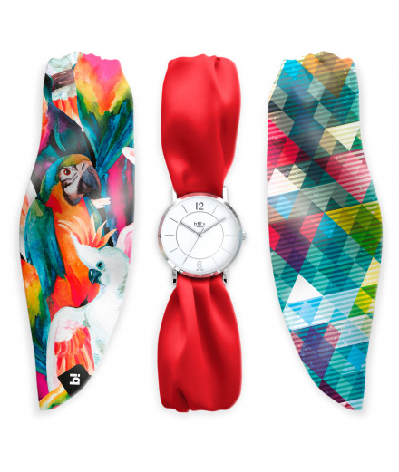 Montre bracelet en satin just parrot